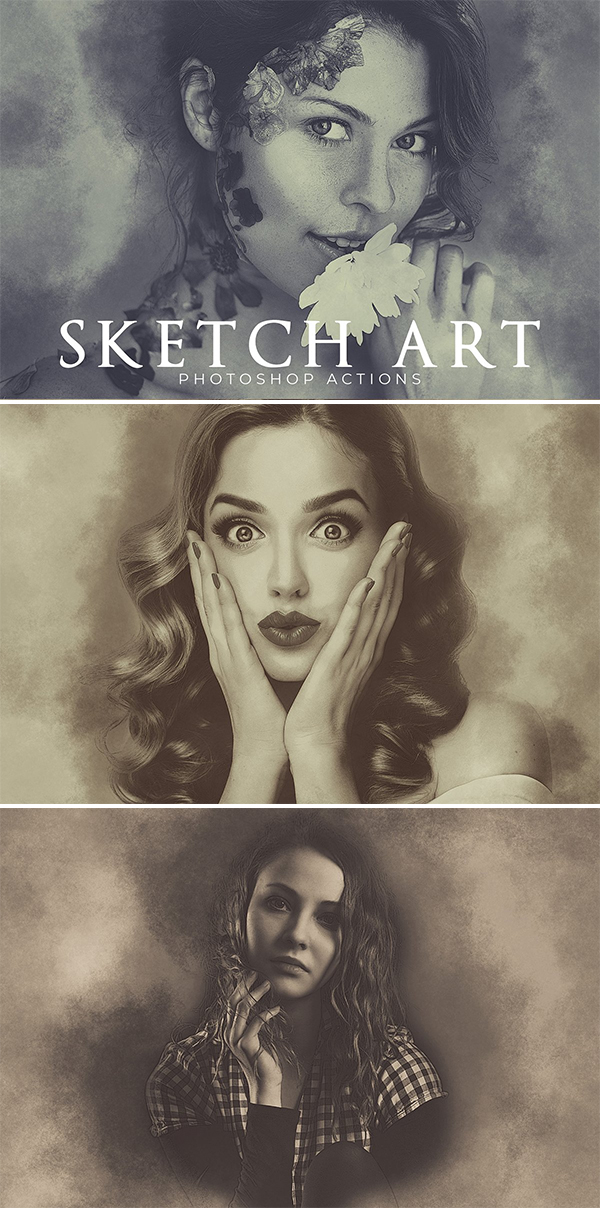 Sketch Art Photoshop Actions