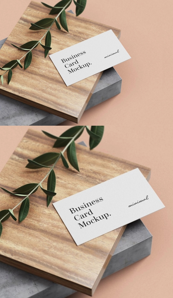 Minimal Business Card Mockup Free PSD