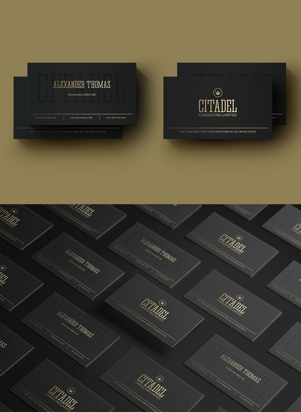 Elegant Gold Business Card Template