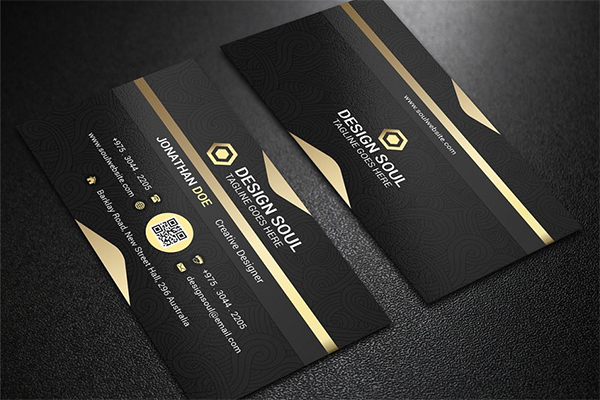 Black Business Card Deesign