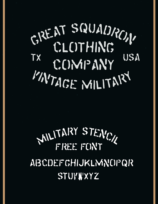 Military Stencil Free Font Letters