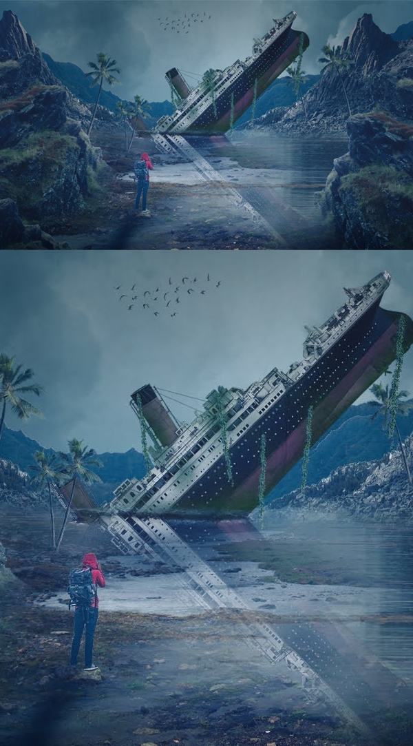 How to Create Titanic Photoshop Manipulation Tutorial And Digital Art