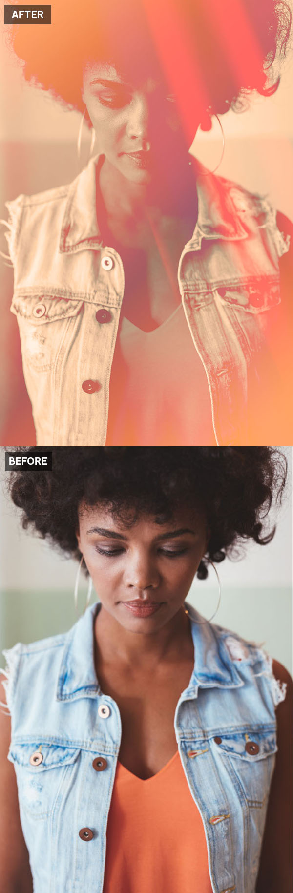 How to Create a Light Leak Photoshop Color Effect