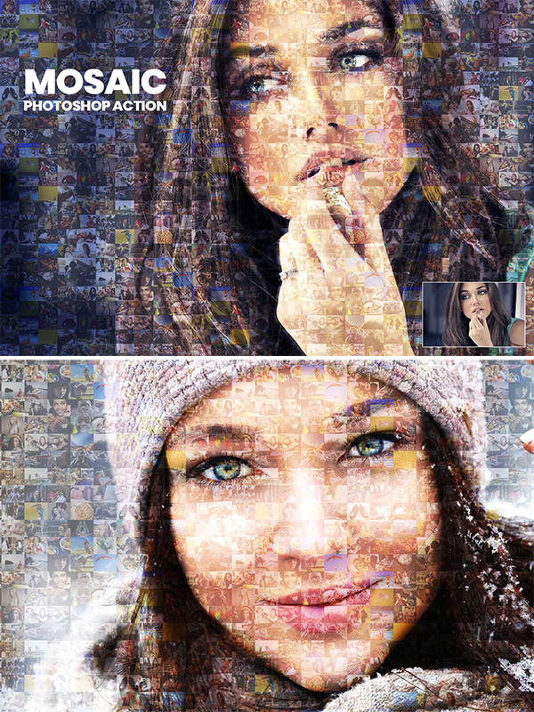 Mosaic Photo Photoshop Action