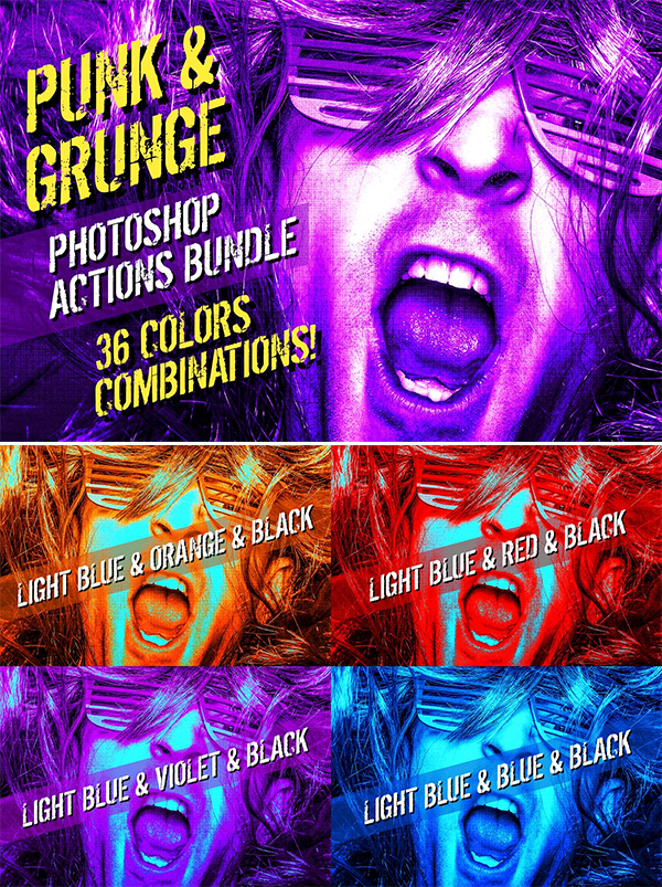 Punk & Grunge | Photoshop Actions