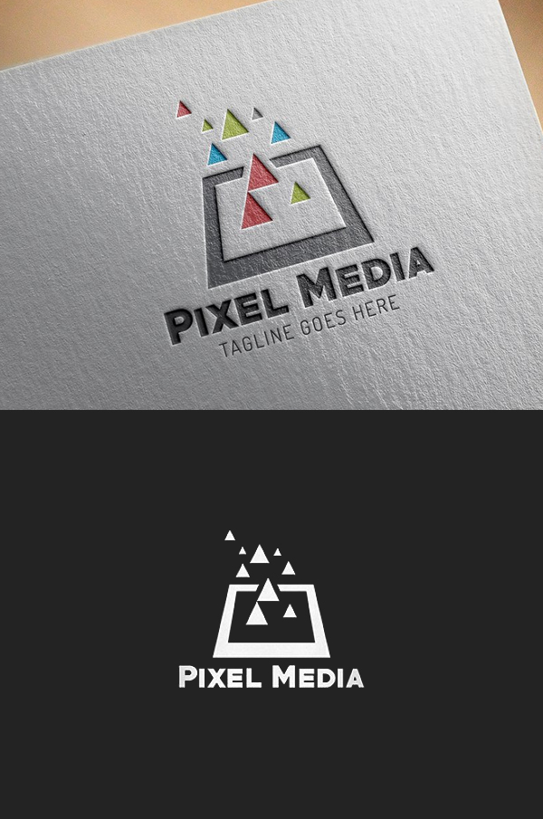 Pixel Media Logo Template - 14