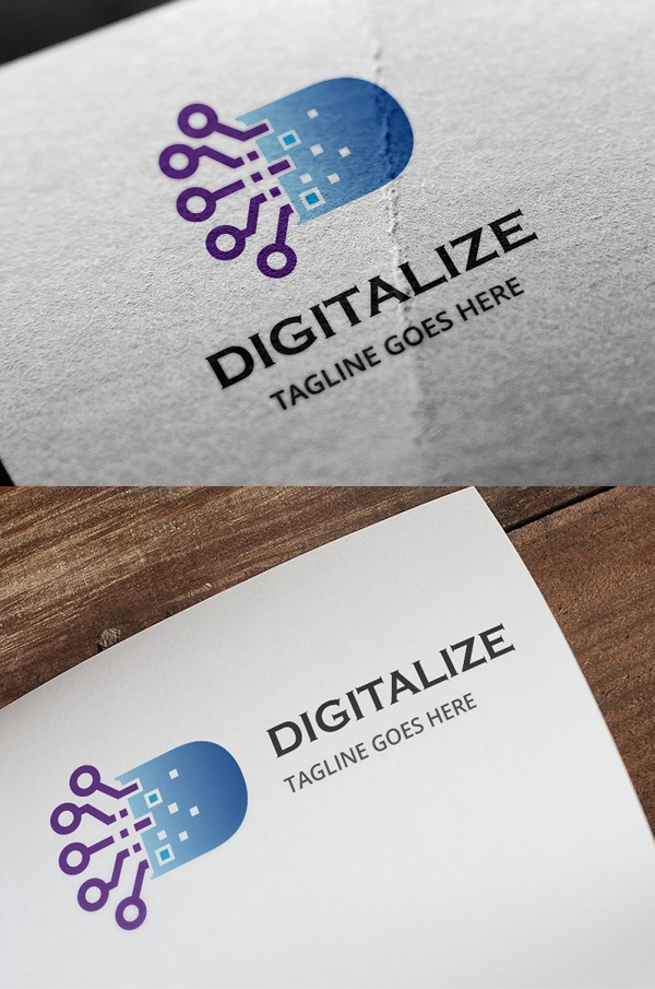 Digitalize -Letter D Logo - 18