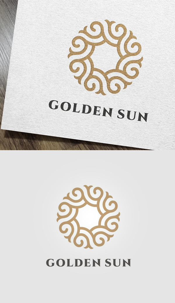Golden Sun Logo - 30