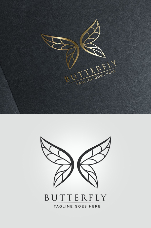 Luxury Butterfly - Logo Template - 4