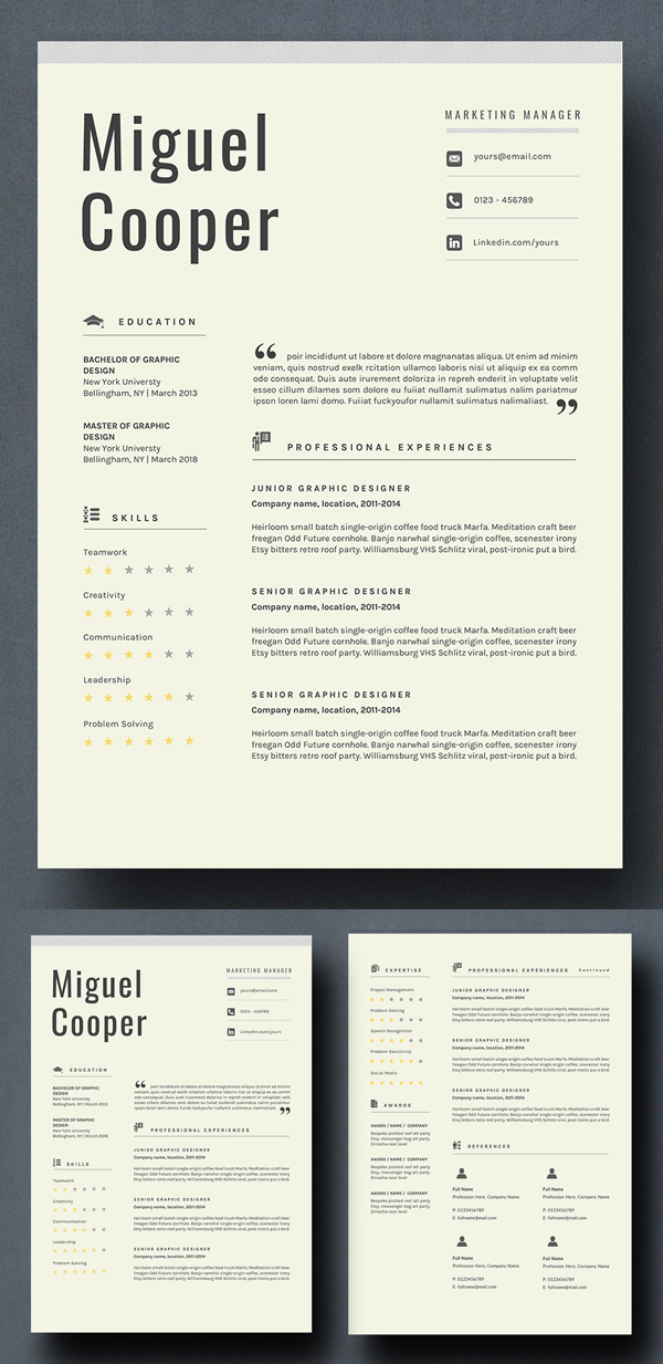 Resume Template - Cooper
