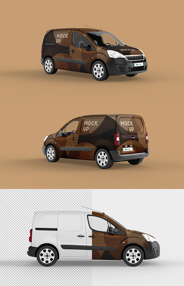 Elegant Delivery Car Mockup