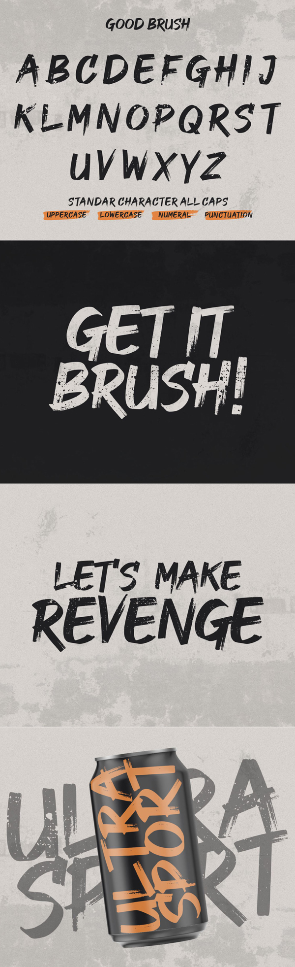 Good Brush Free Font Letters
