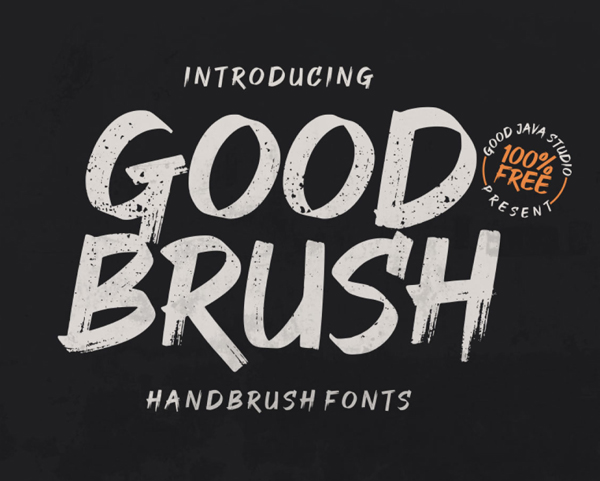 Good Brush Free Font