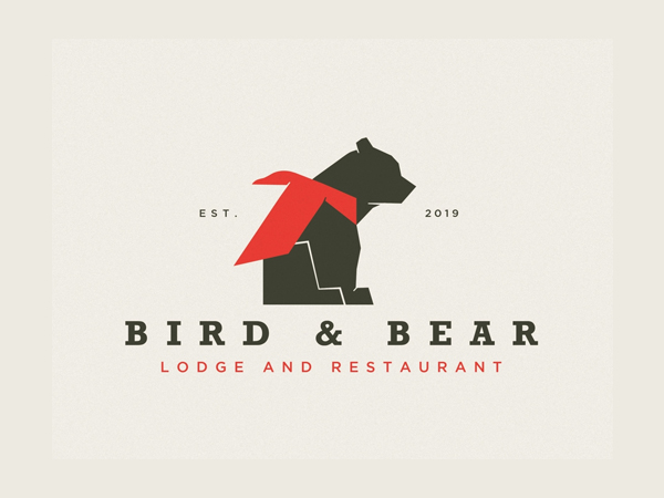 Bird and Bear Logo Design