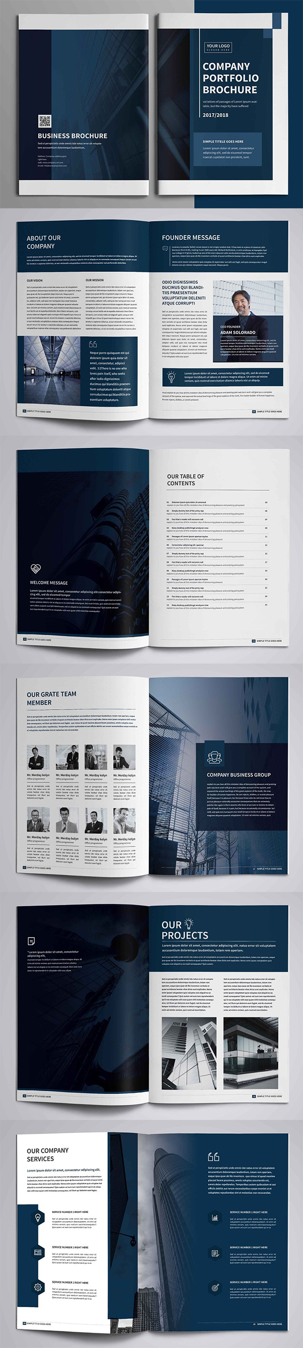 Corporate Company Profile Brochure Template