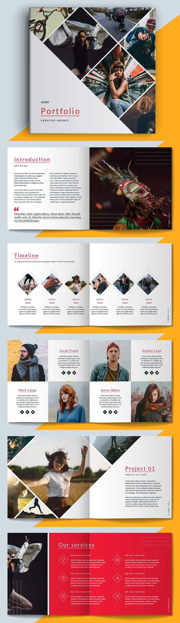 Square Portfolio Brochure Template