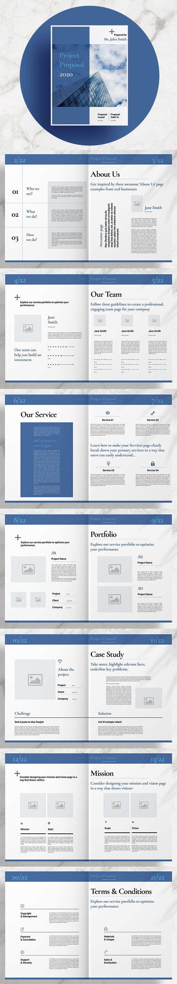 Blue Business Proposal Layout