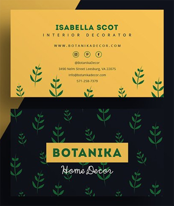 Botanika - Business Card Template