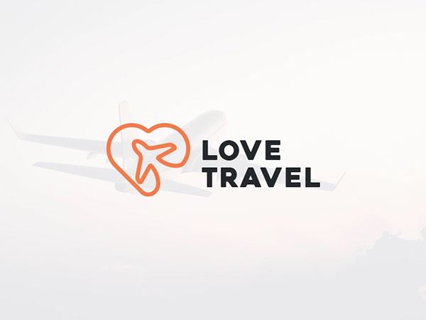 Love Travel Logo Design