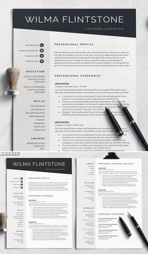 Professional Resume Templates Of 2020 Design Graphic