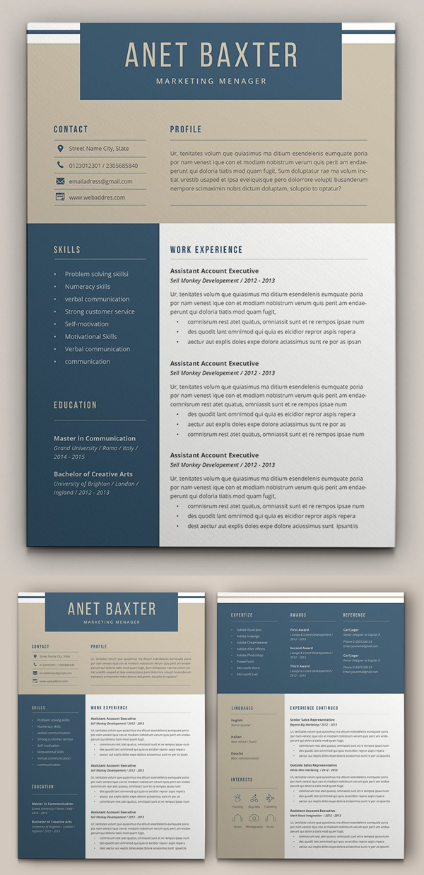 Professional Resume Template Design