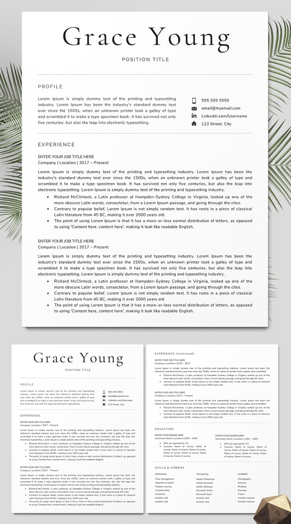 Resume Template / CV Design