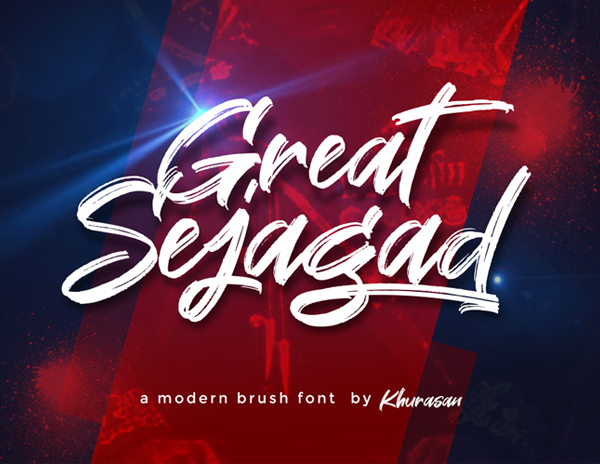Large Sejagad Free Brush Font