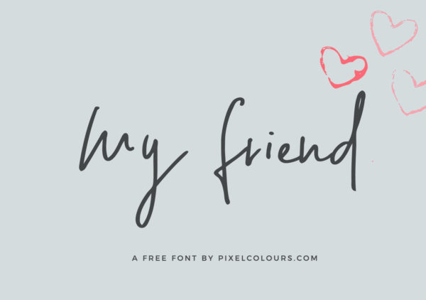 My Friend Handwritten Free Font