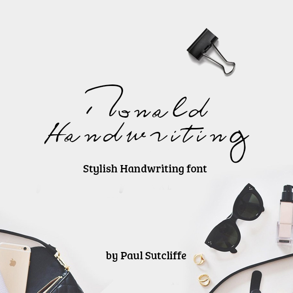 Ronald Handwriting Free Font