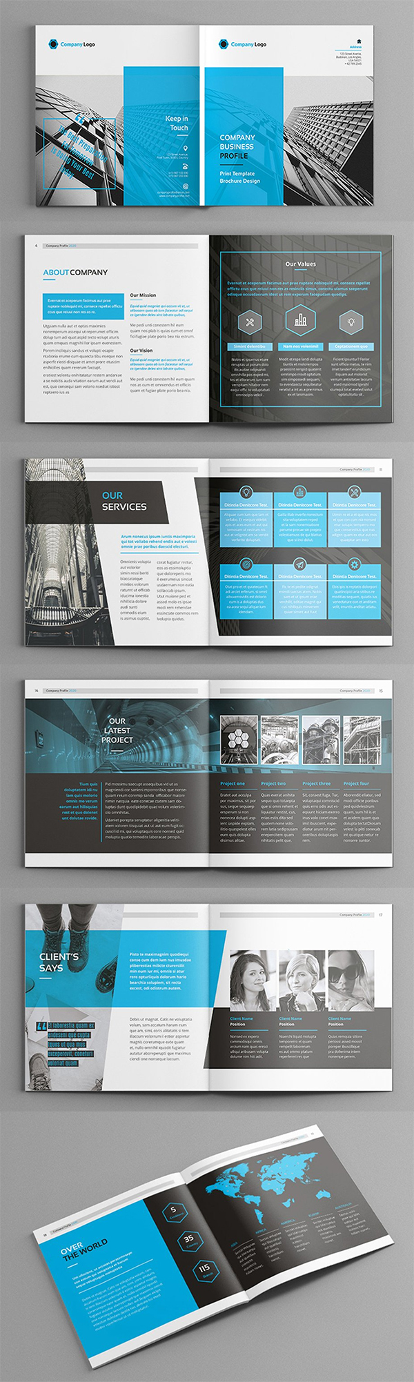 Hilih - Square Company brochure template