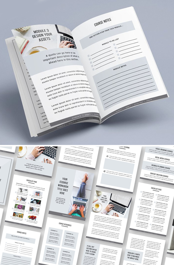 eCourse Workbook Brochure Template