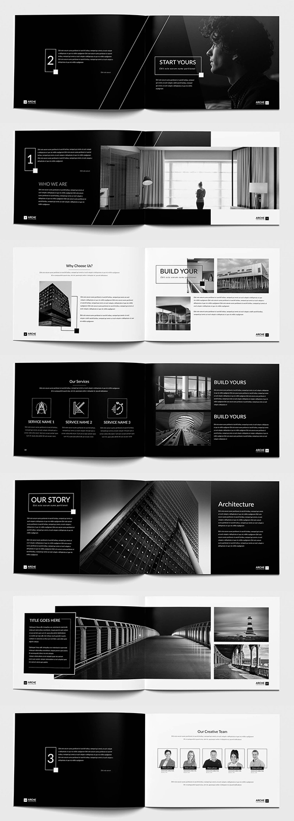 Corporate Architecture Brochure Template