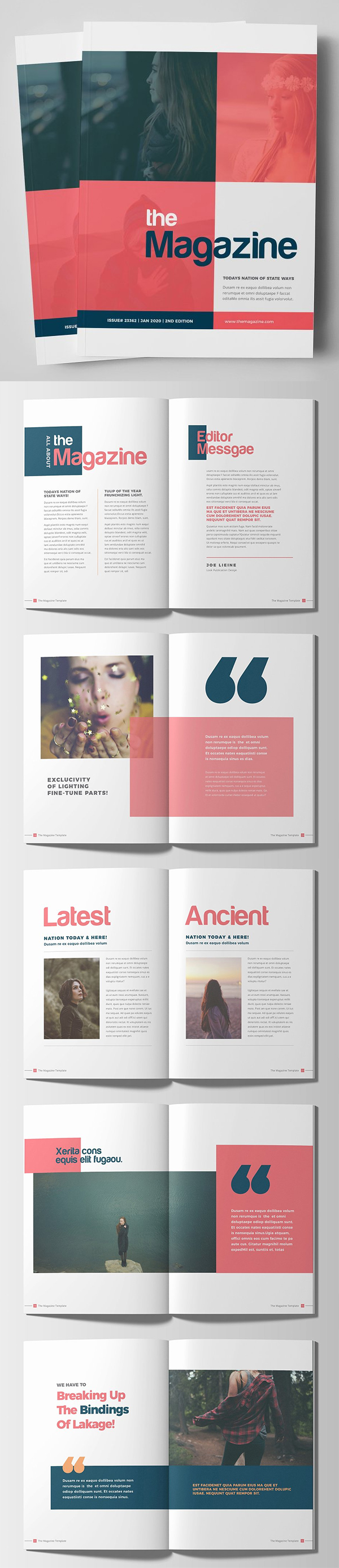 Fashion Lifestyle Magazine Brochure Template
