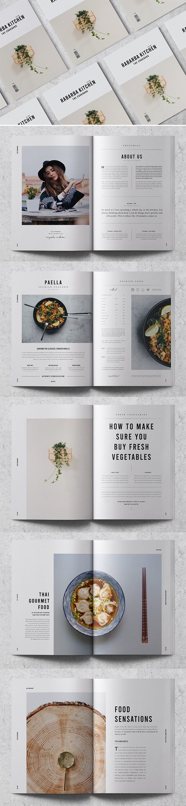 Cookbook / Recipe Book Brochure Template