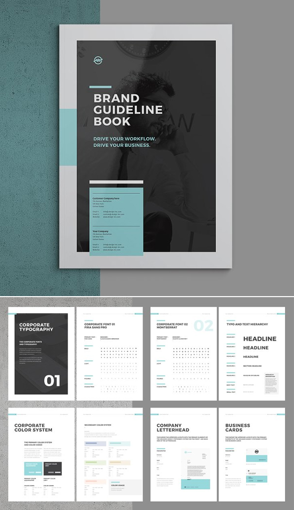 Brand Manual Brochure Template
