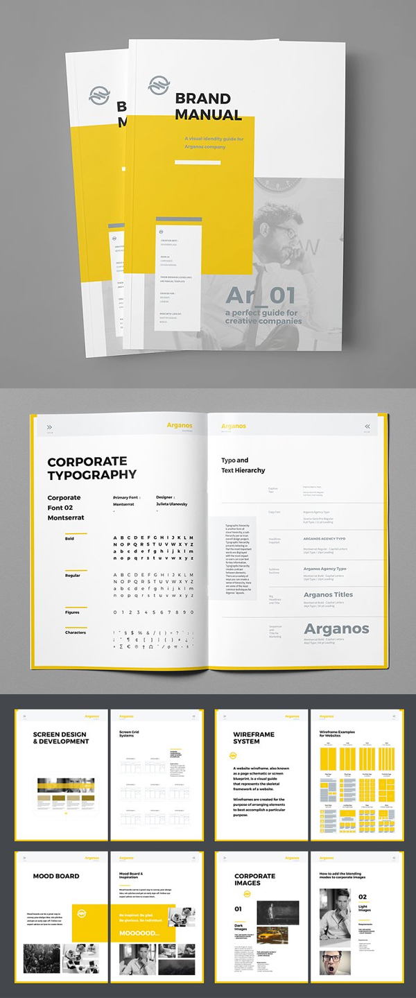 Creative Brand Manual Brochure Template