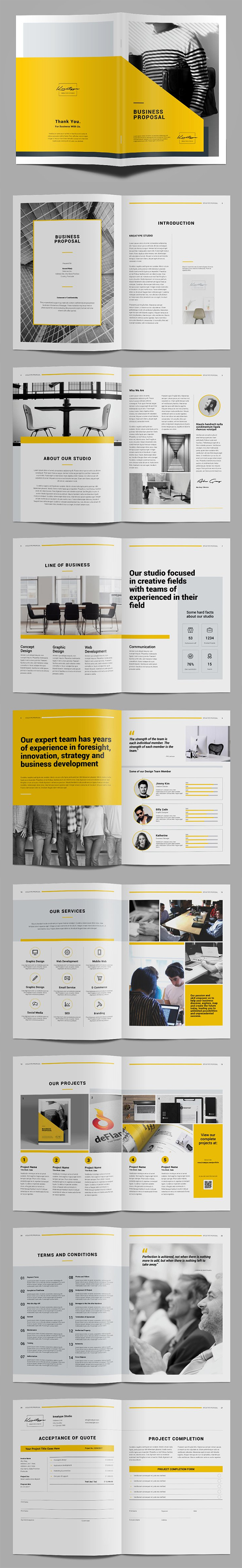 Kreatype Proposal Brochure Template