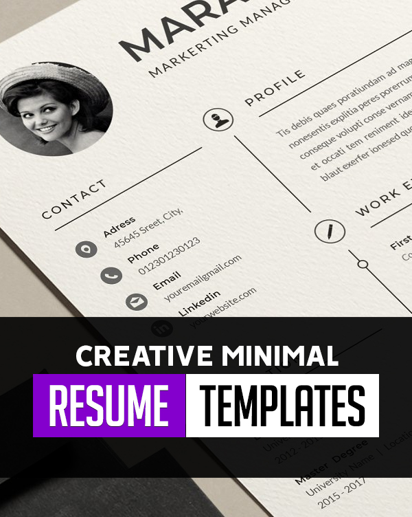 Creative Minimal Resume Templates for Graphic Designers