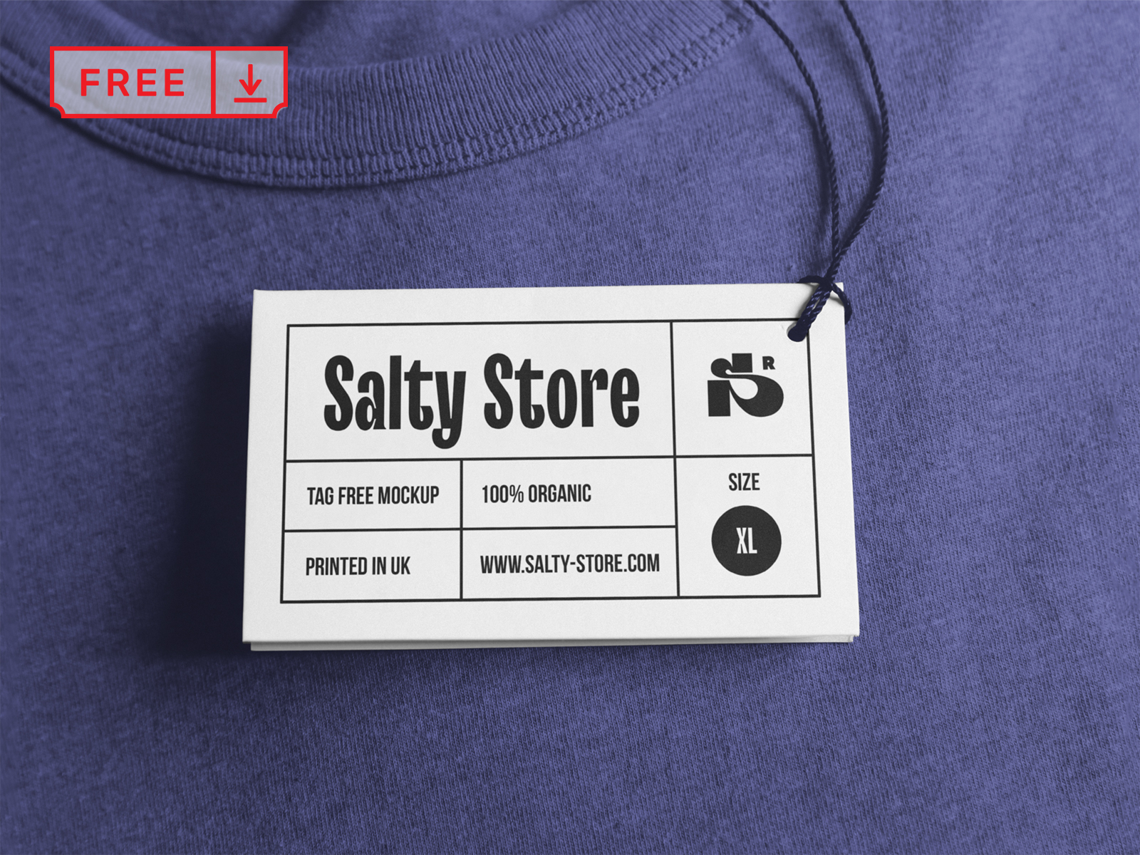 Free Clothing Tag Mockup
