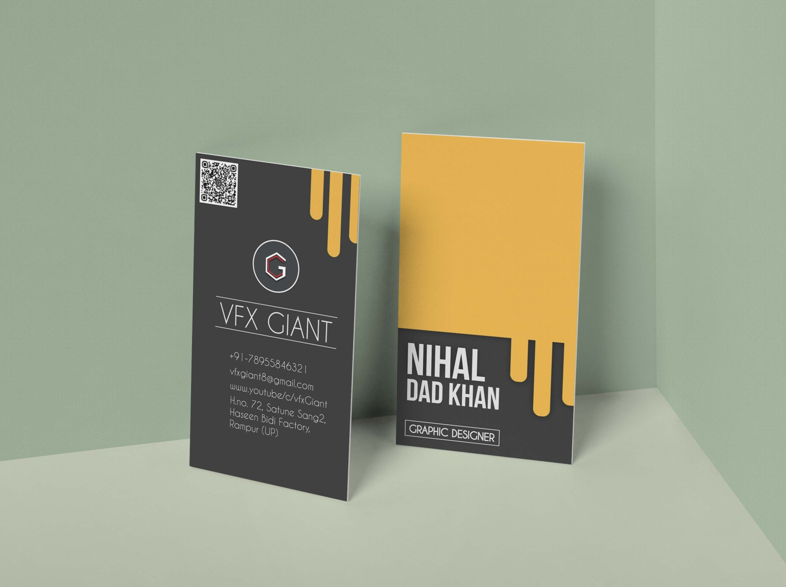 Free creative business card model