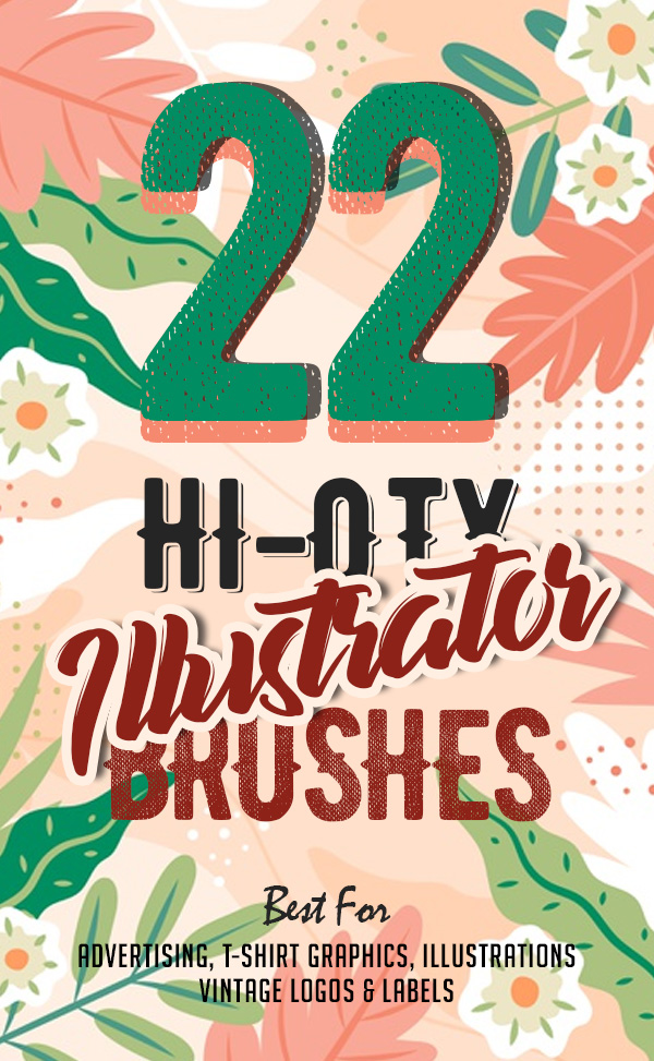 22 High Quality Illustrator Brushes
