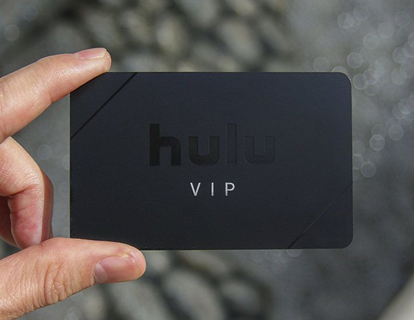 Matte black metal luxury business card