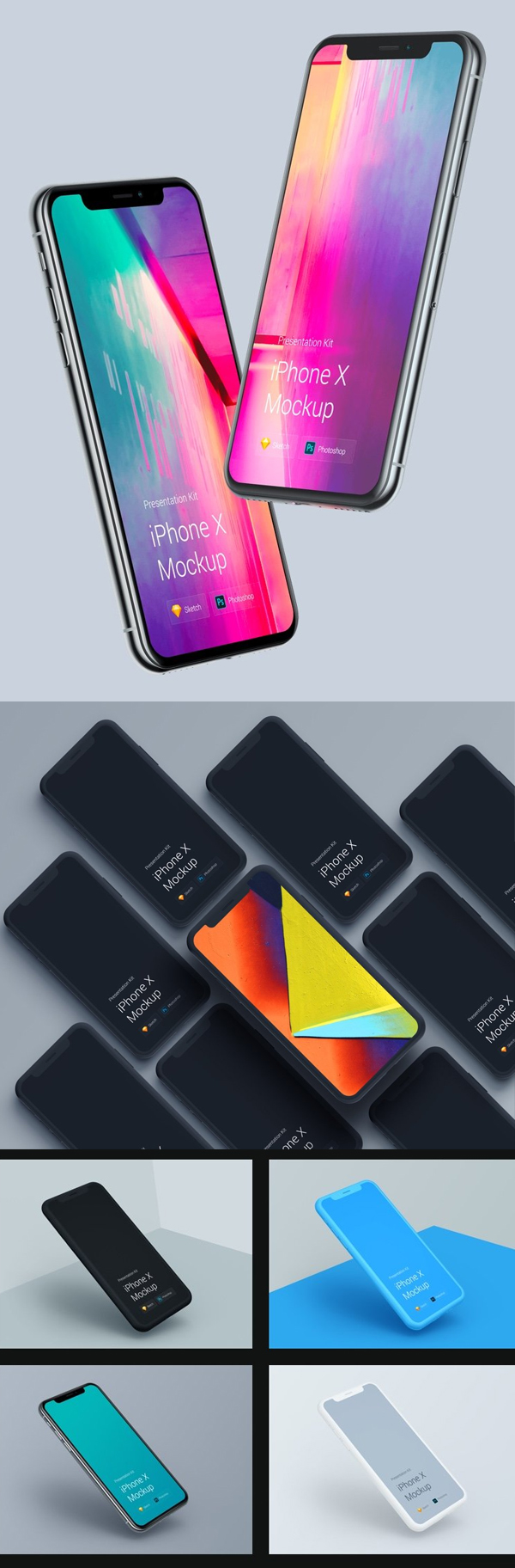 iPhone X Mockups Presentation Kit
