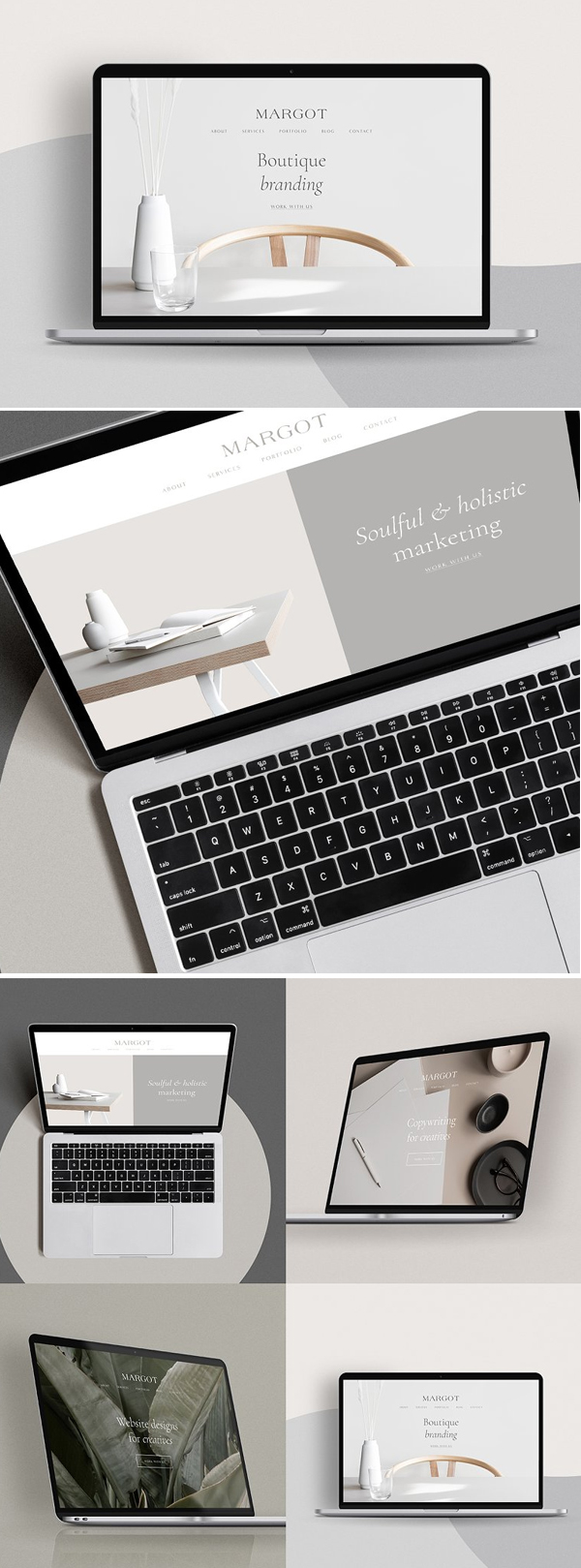 Simple MacBook Mockup Scene Creator
