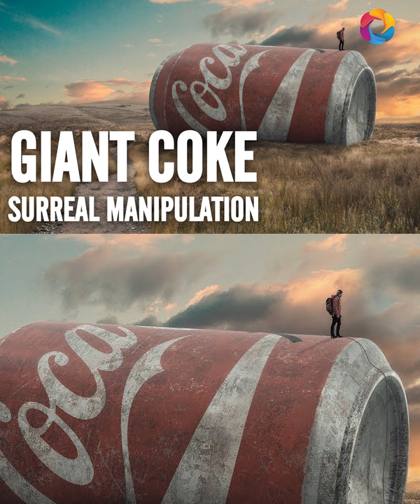 How to Make The Giant Coke Photo Manipulation in Photoshop Tutorial