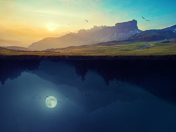 How to Create a Surreal Upside Down Landscape with Photoshop