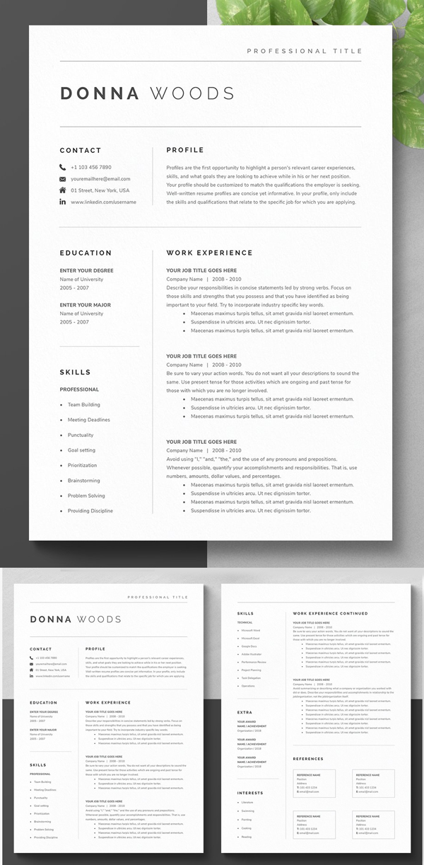 Modern Resume Template Kit