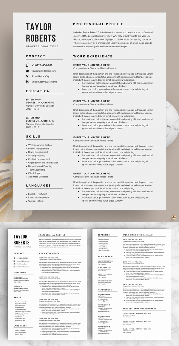 Resume / CV - The Taylor