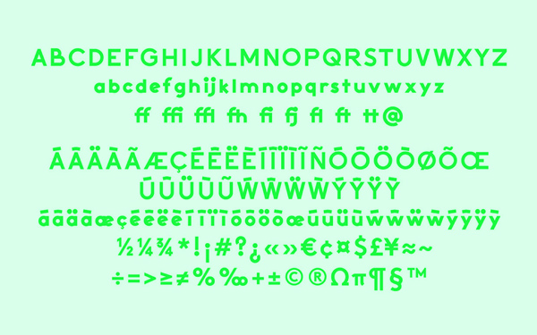 Activitic Free Font Letters