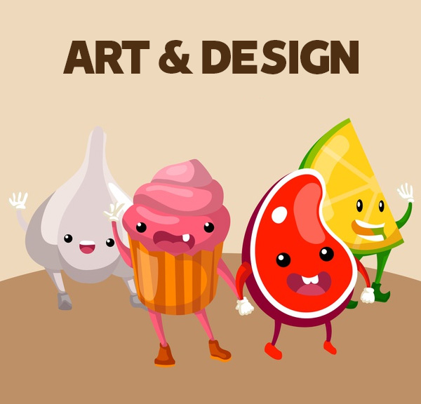 Fill art with design